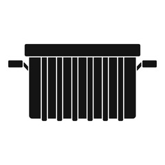 Garbage tank icon, simple style