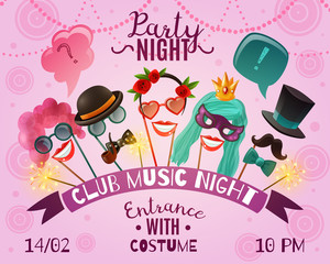 Night Party Advertising Poster