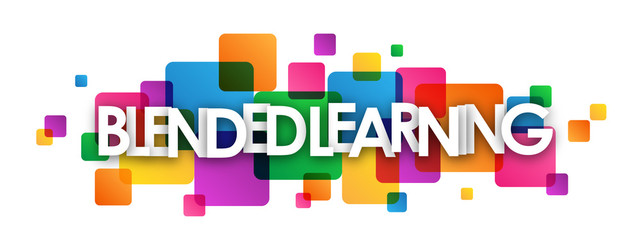 BLENDED LEARNING Colourful Vector Letters Icon