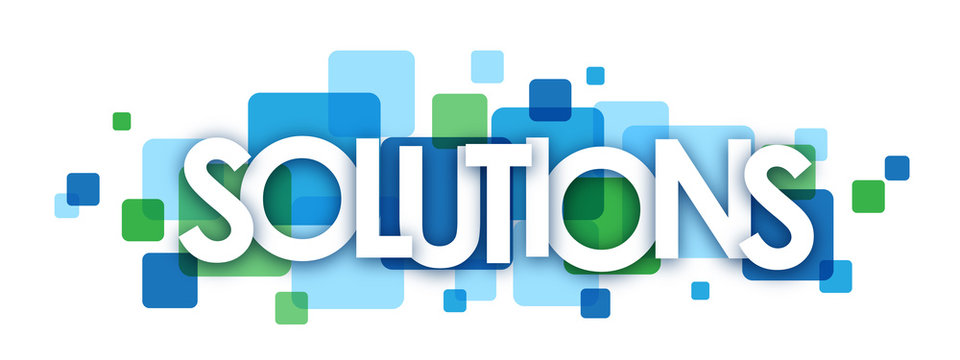 SOLUTIONS Vector Letters Icon