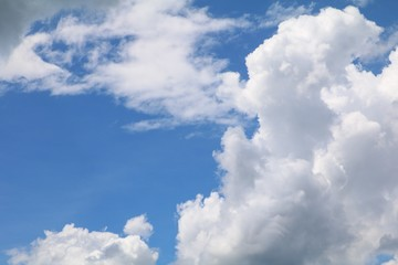 blue sky with big cloud and raincloud,  art of nature beautiful