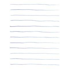 Blaue Kugelschreiber Linien für Notizen