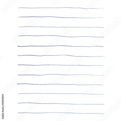 Blaue Kugelschreiber Linien für Notizen\