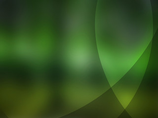 Abstract green and yellow background with energy lines