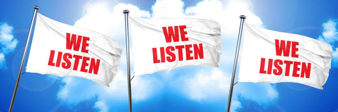 we listen, 3D rendering, triple flags
