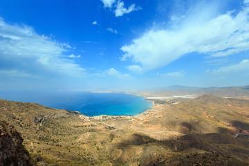 Mediterranean Sea coastline (Cartagena, Spain).