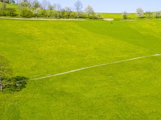 Undulating landscape Mostviertel dandelion pasture, Austria, Low