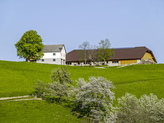 Farm on a hill, Austria, Lower Austria, Mostviertel