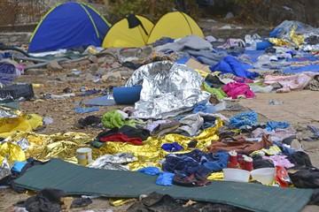 refugee camp Eftalou Lesvos
