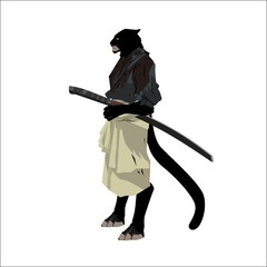 tiger samurai warrior