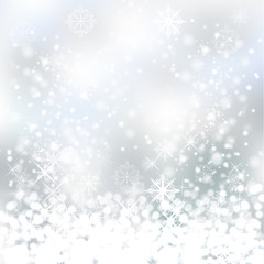 Vector white snowflakes backdrop