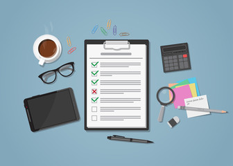 Checklist on workplace