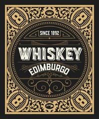 Whiskey card. Vertical design