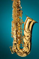 Saxophone - Golden alto saxophone classical instrument
