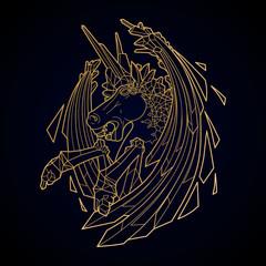 Graphic demonic unicorn