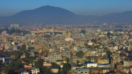 Dense populated city Kathmandu