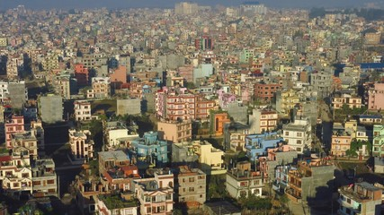 Colorful buildings in Kathmandu