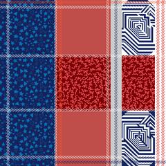 Seamless checkered plaid pattern.