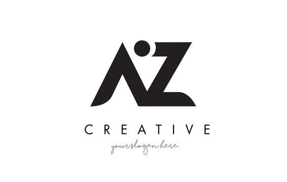 AZ Letter Logo Design with Creative Modern Trendy Typography.