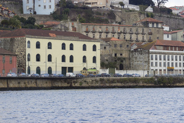 Landscape of the river douro to the porto city
