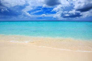 Caribbean sea and blue sky.