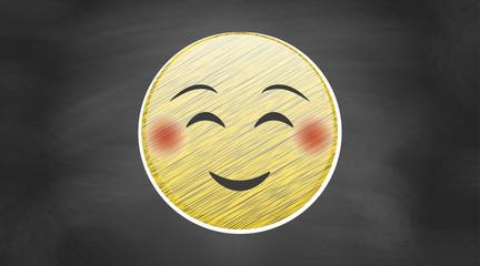 Lächelndes Gesicht | auf Kreidetafel