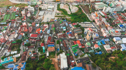 Beautiful aerial view of Patong city.