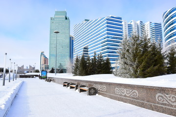 Winter view in Astana, capital of Kazakhstan