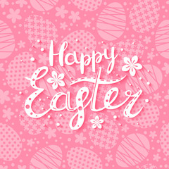 Easter card with greeting message