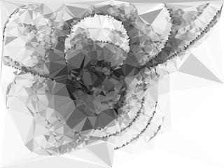 Abstract monochrome mosaic backdrop. Vector clip art.