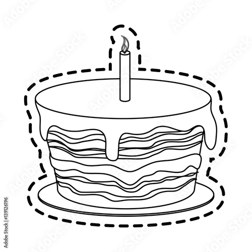 Cake With Icing Vector :