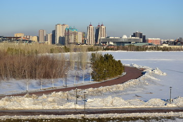 Winter view in Astana, capital of Kazakhstan