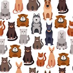seamless background. Pets.