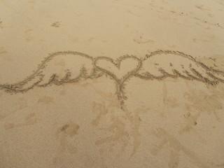 Heart on Sand, Caribbean Beach