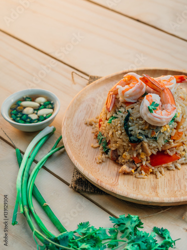 Vintage style traditional thai food fried rice with for Antique thai cuisine
