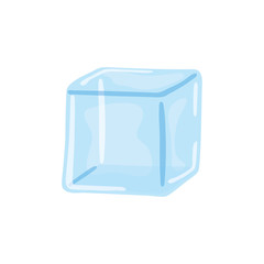 Water ice cube icon vector illustration graphic design