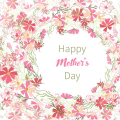 Elegant design greeting cards Mother's Day