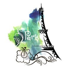 hand drawn sketch of the Eiffel Tower