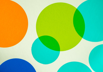 Bright vibrant circle patter for background or backdrop.