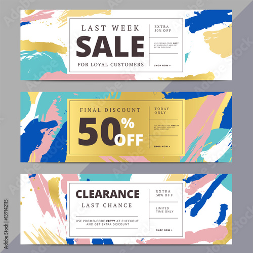 creative luxury abstract social media web banners for website header