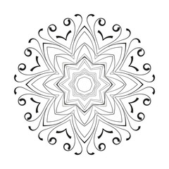Vector circular pattern of hand drawn elements.