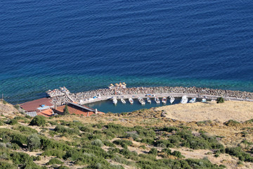 Assos Ancient Harbor in Behram, Ayvacik, Canakkale