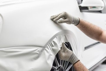 profi foliert auto mit matt satin weiß folie car wrapping auto folierung