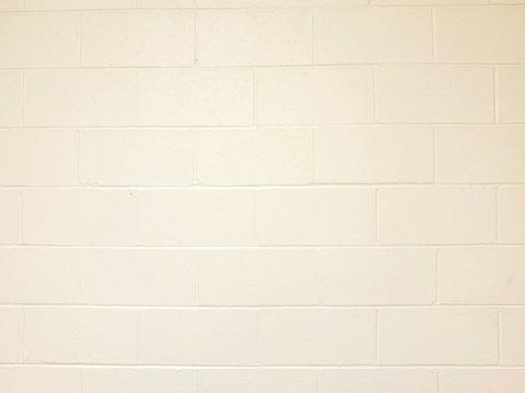 White Cinderblock Wall Background