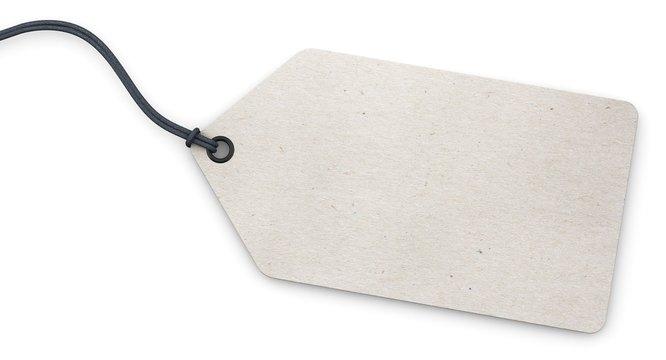 Anhänge-Etikett - Karton weiß strukturiert