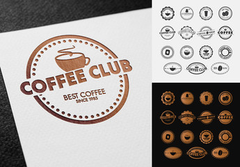 60 Coffee-Themed Labels