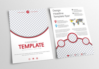 Circular Header and Footer Flyer Layout 1