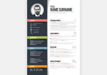 Digital Resume Layout - Portrait 3