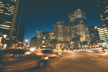 Downtown at Night - Montreal