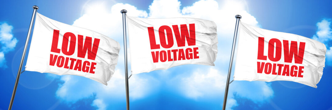 low voltage, 3D rendering, triple flags